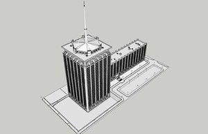 3D model soviet building