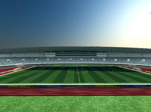 olympic football field 3D model