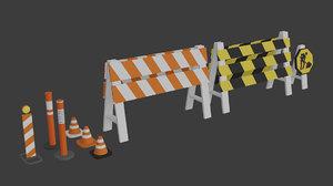 3D construction barriers