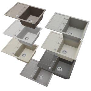 3D sink blanco metra 45s
