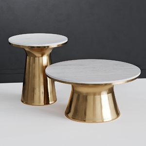 table white marble kork 3D model
