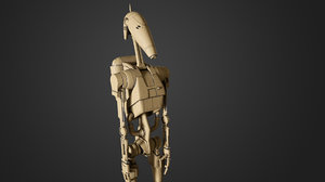 b1 battle droids 3D model