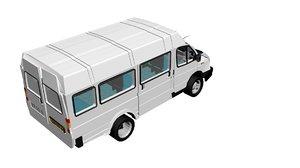 3D bus minibus