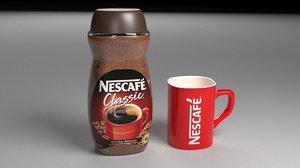 3D coffee nescafe