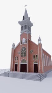 church building structure 3D