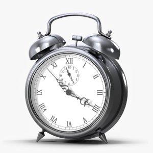 3D alarm clock silver