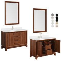 Talyn 48 Mahogany Vanity rectangular and oval table top