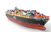 Cargo ship 300m Low-poly