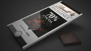 lindt excellence 70 percent 3D model