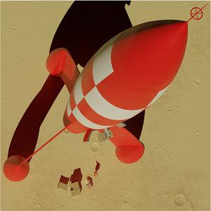 atomic rocket moon 3D model