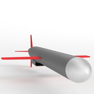 bgm-109 tomahawk cruise missile 3d 3ds