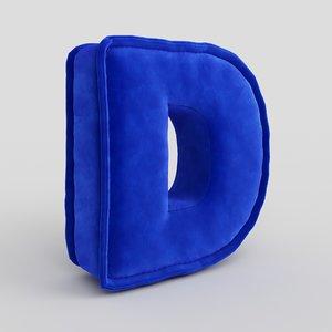 letter fabric 3D model