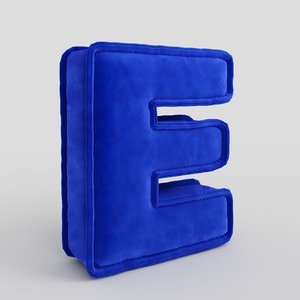 3D letter fabric