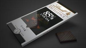 3D lindt excellence 85 percent model