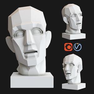gypsum head chopping gudon 3D model