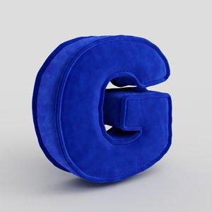 3D letter fabric model