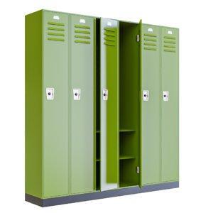3D school lockers interior furniture