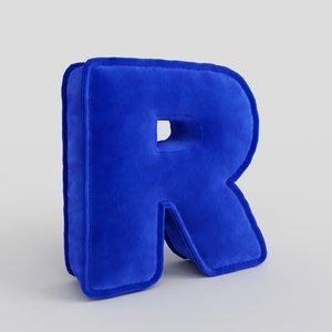 3D letter fabric alphabet model