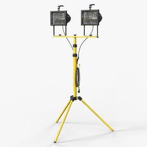halogen industrial spotlight gameready 3D