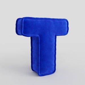 letter fabric alphabet 3D