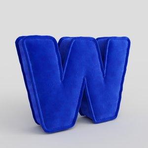 letter fabric alphabet 3D model