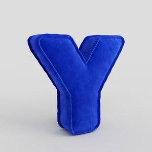 letter fabric alphabet model