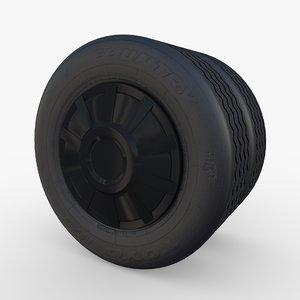 3D model tesla truck wheel
