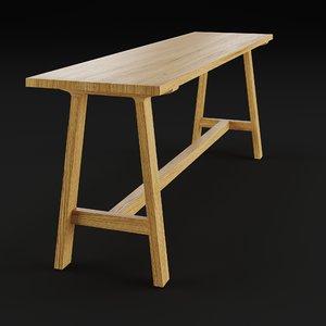 3D alma bench