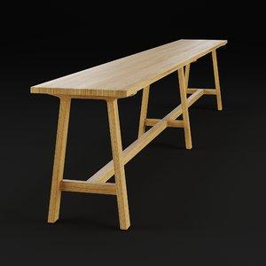 alma bench 3D