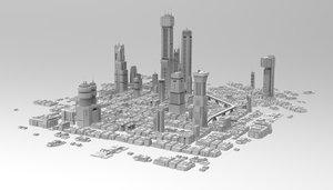 futuristic city sci-fi 3D model