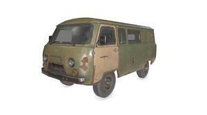 3D old uaz 3909 car