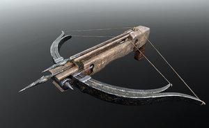 3D crossbow bow