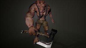 unreal rigged pbr 3D model