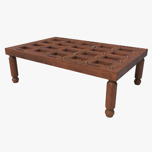 coffee table door 3D model