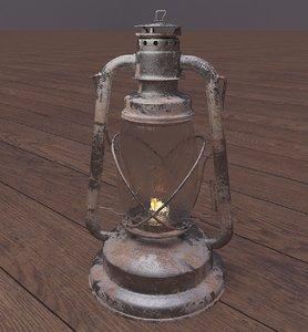 old paraffin lamp 3D model