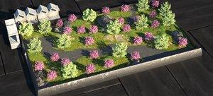 3D miniature landscape model