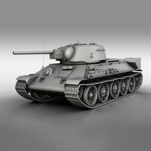 t-34-76 uztm - 1942 3D model