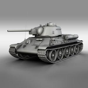 3D model t-34-76 uztm - 1943