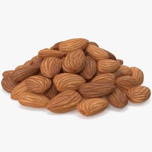 almond nuts v 2 3D model