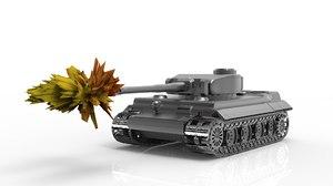 simple tiger tank 3D