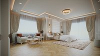 Simple Bedroom Interior 2