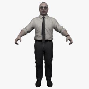 pentagon agent 3D model
