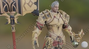 3D royal knight model