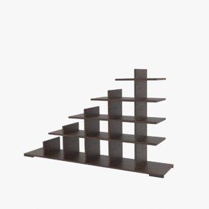 3D shelf shelving bookcase