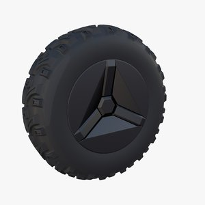 3D model tesla cyberquad atv wheel