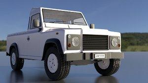 3D model land rover 3