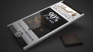 3D lindt excellence 90 percent