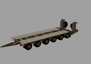 army semitrailer stavostroj 3D