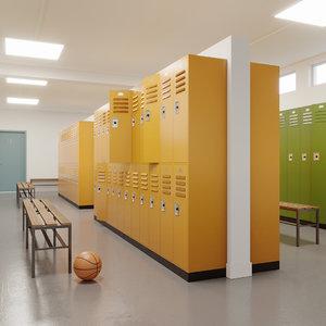 locker room 3D model