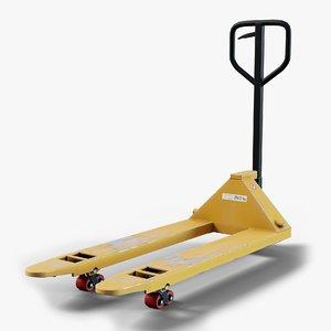 hand pallet truck gameready 3D model